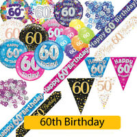 AGE 60 - Happy 60th Birthday Party Decorations (Oaktree) Banners & Bunting