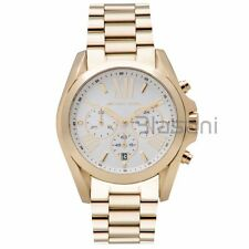 Michael Kors Original MK6266 Unisex Bradshaw Gold Stainless St Chrono Watch 43mm