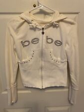 Bebe Crop Jacket Hoodie With Blingy Logo New Without Tags Size XS