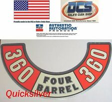 1974 Dodge Plymouth 360 Four Barrel Air Cleaner Decal NEW MoPar USA