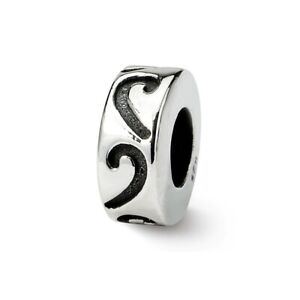 Stopper & Spacer Bead .925 Sterling Silver Antique Finish Reflection Beads