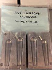 AJUSTI Twin Bomb Fishing Lead Mould 3oz & 4oz
