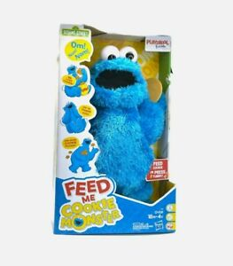Sesame Street Feed Me Cookie Monster Plush Interactive Toy C6 NEW Free Shipping