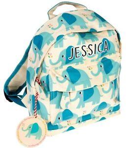 Personalised Elephant Mini Backpack For Girls or Boys School Nursery Cute Kids