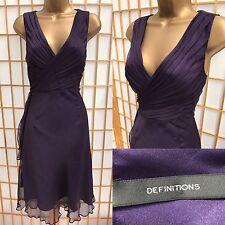 Definitions Purple Dress Size 12 Formal Party Wrap V Neck 254