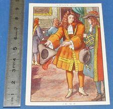 CHROMO 1950 GRANDE IMAGE BON-POINT BLEDINE COSTUME MASCULIN LOUIS XIV 1694