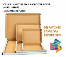 More details for white royal mail pip large letter postal boxes c4 c5 c6 from uk manufacturer