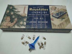 Vintage Christmas Royalites Old 9 Light Christmas Tree Bubble Lights & Spares