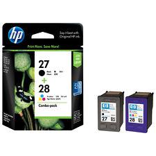 Bargain Originale HP 28 colori e cartucce di inchiostro nero 27 2 Anno Gtee spedizione rapida