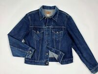 Replay blue jeans jacket uomo usato XL giacca giubbotto denim blu bomber T6134