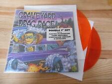 """7"""" VA Graveyard Drag Race 2x7"""" (4 Song) REPTILIAN REC color vinyl"""