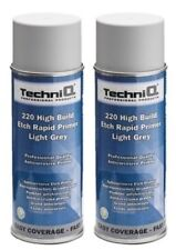 400ML RAPID Etch Primer LIGHT GREY High Build Aerosol Spray Professional 2 CANS