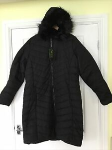 Regatta Fritha Insulated Long Line Hooded Parka Black Size 14