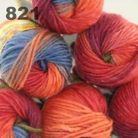 Sale 6 Skeins  x50g New Knitting Yarn Chunky  Colorful Hand Wool Wrap Scarves 21