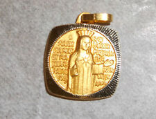Our Lady of Beauraing, Gold Tone Medal, from Belgium, New