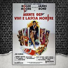 Original Poster 007 James Bond Vivi E Lascia Morire - 140x200 - Roger Moore
