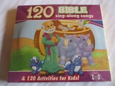 120 Bible Sing a Long Songs + 120 Activities for Kids.  NEW CD.  FREE SHIPPING