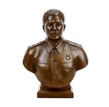 Busto di Bronzo-Josef Stalin (1953) - Firmato-Militaria CCCP RUSSIA URSS USSR