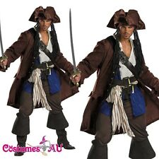 Mens Pirates Of The Caribbean Captain Jack Sparrow PRESTIGE Adult Costume