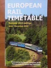 EUROPEAN RAIL TIMETABLE ORARI TRENI EUROPA ESTATE 2015 SUMMER EDITION