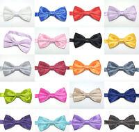 New Shiny Diamond Satin Mens Pre Tied Wedding Party Fancy Necktie tie Bow Tie
