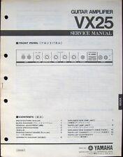 YAMAHA VX25 Guitar Amplifier Original Service Manual, Schematics Parts List Book