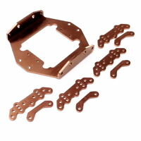 Alu wheelbase stretch plate/damper plate kit for TAMIYA Clodbuster/bull head