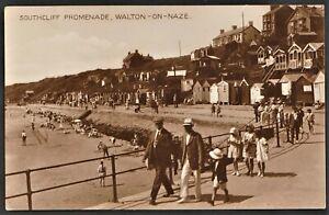WALTON ON THE NAZE postcard Southcliff Promenade