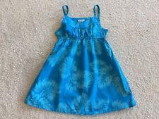 OCEAN BLUE HAWAIIAN MUUMUU HULA BABYDOLL SUMMER SUN DRESS BABY GIRL SIZE 4