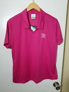 1 NWT NIKE GOLF DRI-FIT WOMEN'S POLO, SIZE: X-LARGE, COLOR: PINK (J96)
