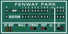 Boston decor, Fenway Park, Green Monster scoreboard 1978 Dent game