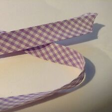 Lilac check 18mm Bias Binding by Fany on a 2m Length