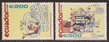 Ecuador 1225/26 1991 50 Aniversario Radio Quito Fútbol football Fauna MNH