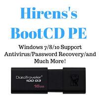 Hiren's Boot CD PE 64 bit 16 Gb USB 3.0 Bootable Password Reset / Data Recovery