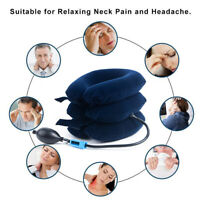 Air Inflatable Pillow Cervical Neck Head Pain Traction Support Brace Device G2