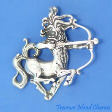 Sagittarius Zodiac Astrological Sign .925 Sterling Silver Pendant MADE IN USA