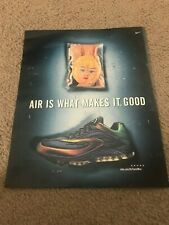 Vintage 1999 NIKE AIR TUNED MAX Running Shoe Poster Print Ad 1990s RARE
