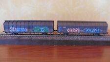 Roco  76877 Schiebewandwagen der ÖBB Delacher , mit Grafitti und gealtert
