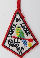 OA Lodge 116 Santee eX1980-3, Fdl; Fall Fellowship [D1721]