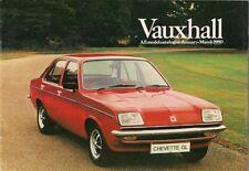 Vauxhall Chevette Cavalier Carlton Royale January-March 1980 UK Market Brochure