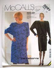 1980's Liz Claiborne pullover dress with tie belt pattern 2097 size 14 unused
