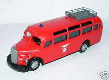 b PRALINE HO 1/87 BUS CAR MERCEDES BENZ O 350 POMPIERS