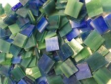 """1/2"""" Deep Green Blue: Stained Glass Mosaic Tiles (100 Pieces)"""