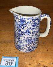 Heron Cross Pottery Blue White Chintz English large Jug Floral
