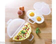 Micro-ondes omelette maker & 2 pocheuse (plastique cuisinière cuisson braconnage set