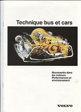 N°8459 / VOLVO catalogue technique bus et car texte français  1988