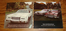 Original 1973 Lincoln Continental Sales Brochure Lot of 2 73