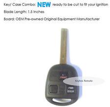 Keyless entry remote Lexus HYQ 12BBT uncut blade transponder controller clicker