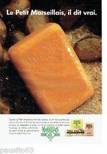 PUBLICITE ADVERTISING 126  1992  le savon  cube Le Petit Marseillais