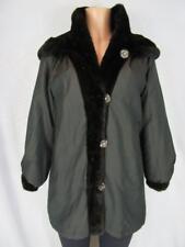 FOX & KLAFF Natural Ranch Mink Reverisible Microfibre Removeable Hood Jacket Sm